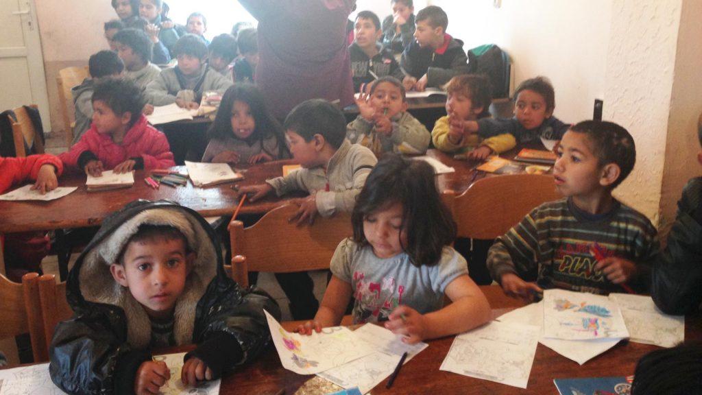 Barn i klasserommet